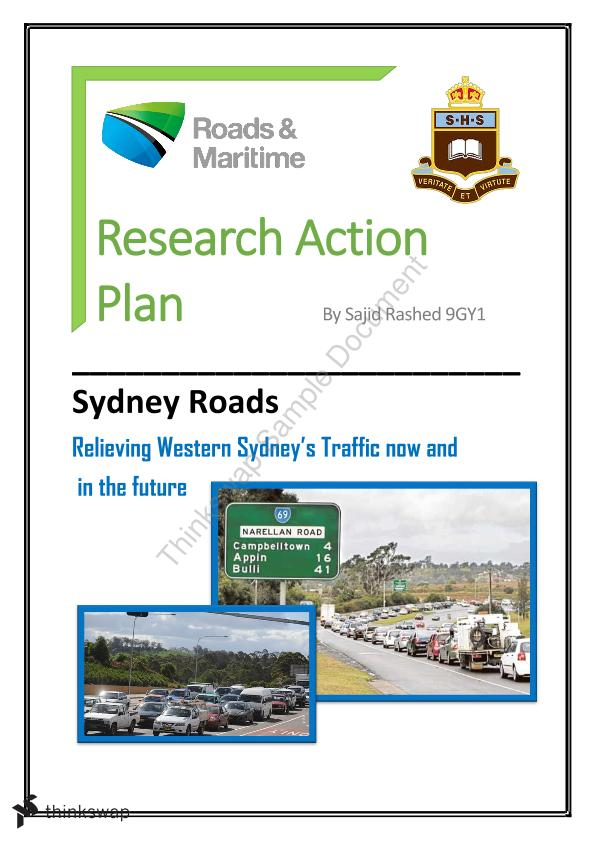 Research Action Plan on Western Sydney