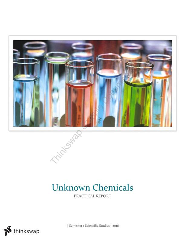Unknown Chemicals Practical Report