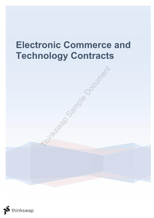 Electronic Commerce and Technology Contracts Notes