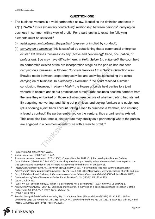 LLB452 Case Study - Page 1