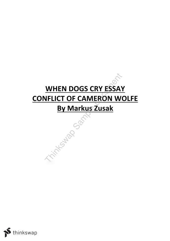 when dogs cry essay conflict on cameron wolfe year sace when dogs cry essay conflict on cameron wolfe