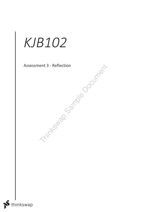 KJB102 Assessment 3 - Essay