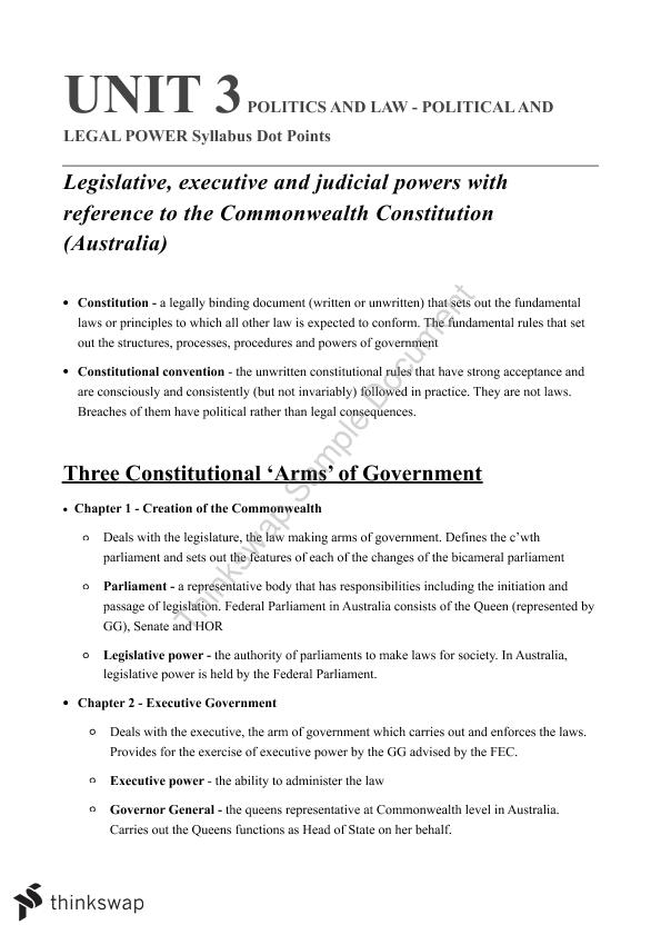 Politics and Law Notes