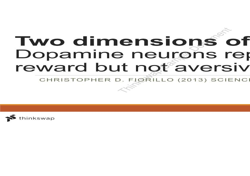 Presentation Evaluating DA Neurons and Their Place in Reward/Aversive Learning Reinforcement