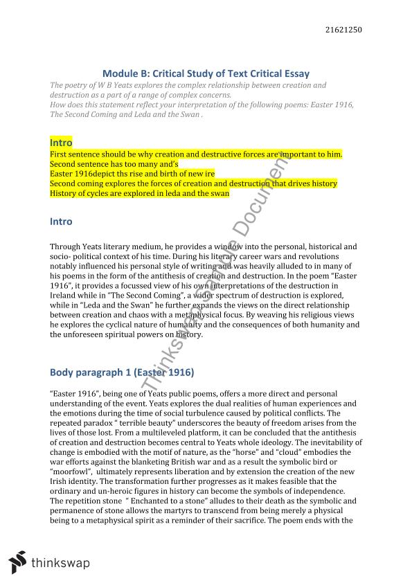 genetic mod b essay year hsc english advanced thinkswap genetic mod b essay