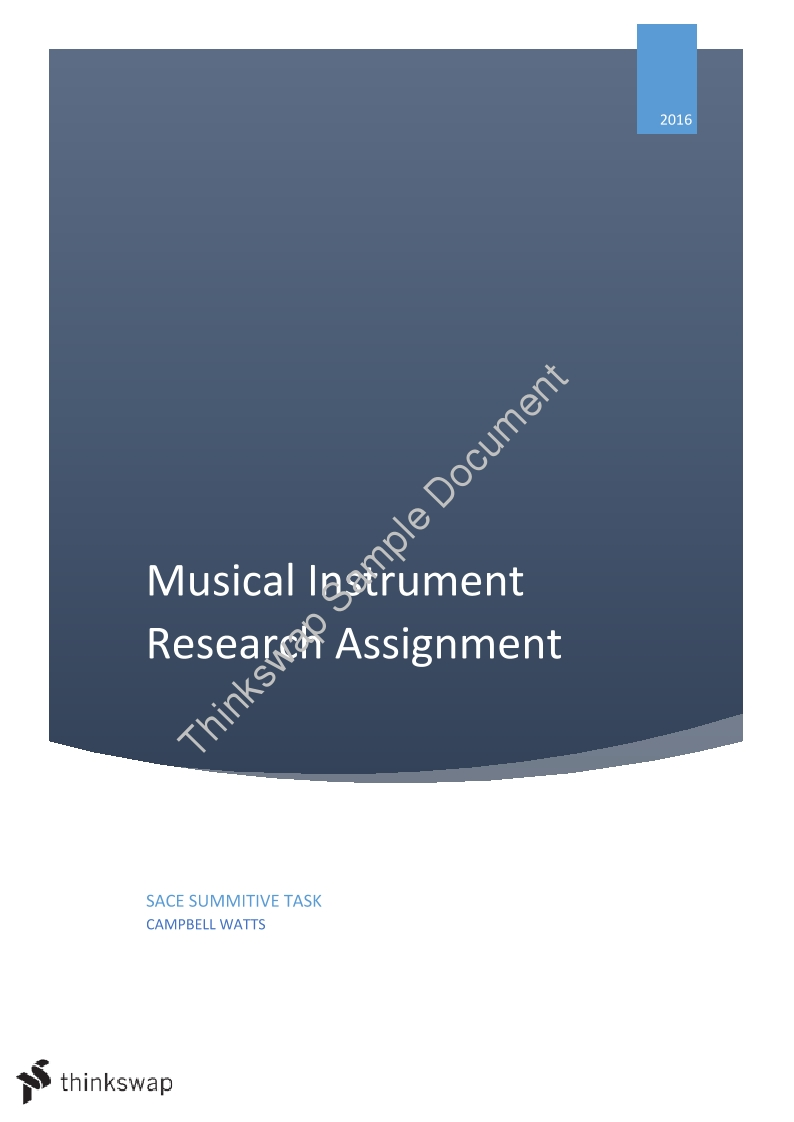 Musical Instrument Physics Assignment