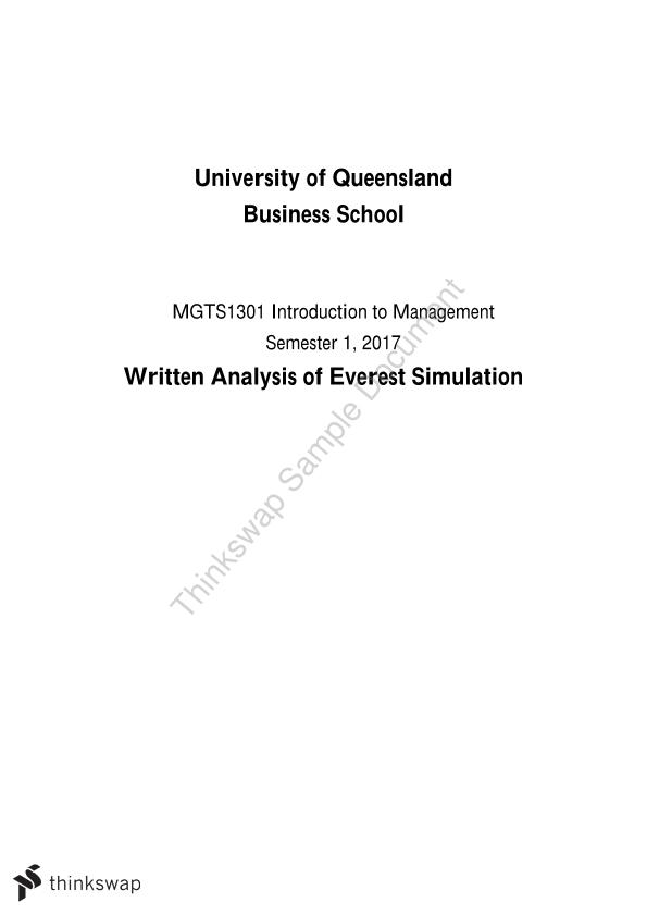 Everest Simulation Written Analysis