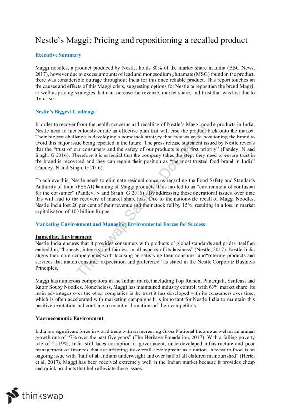 2017 MARK1012 Final Case Study Distinction - Page 1