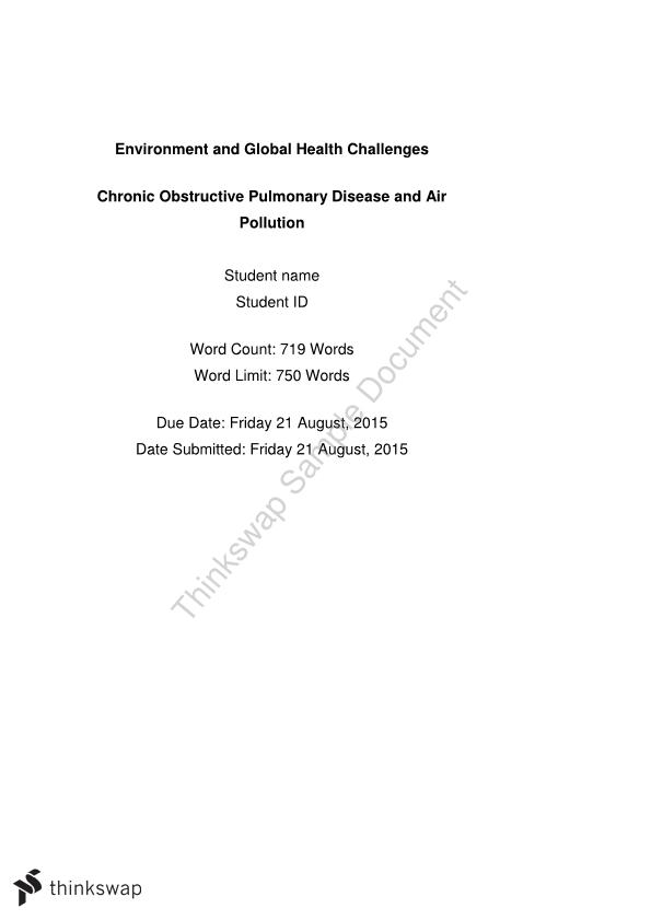 Environment and Global Health Challenges