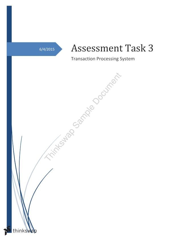 Assessment Task on Transaction Processing Systems - Page 1
