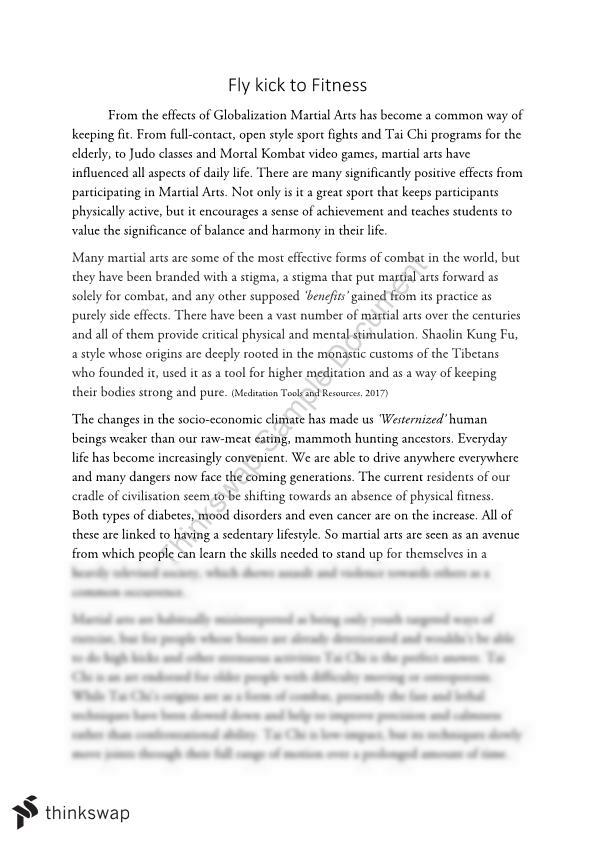 Expository Essay on Martial Arts and its Health Benefits - Page 1