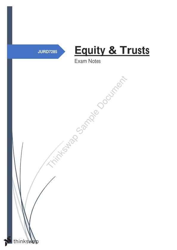 Equity & Trusts (Full Exam Notes)