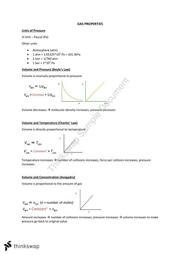 CHEM1100 Complete Final Notes