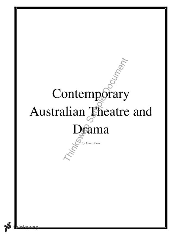 contemporary australian theatre