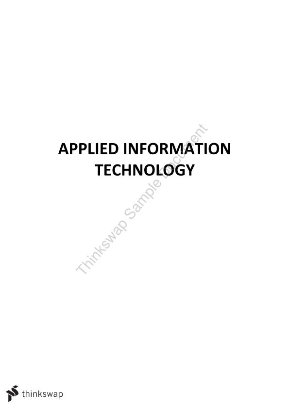 Year 12 ATAR Applied Information Technology (AIT) Notes