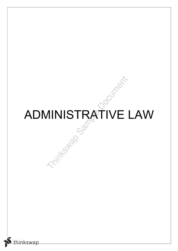 Administrative Law Complete Notes