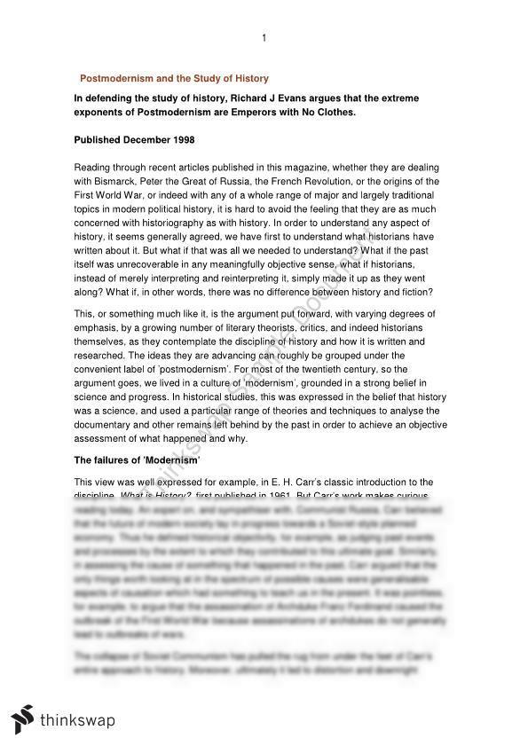 Extension history essay