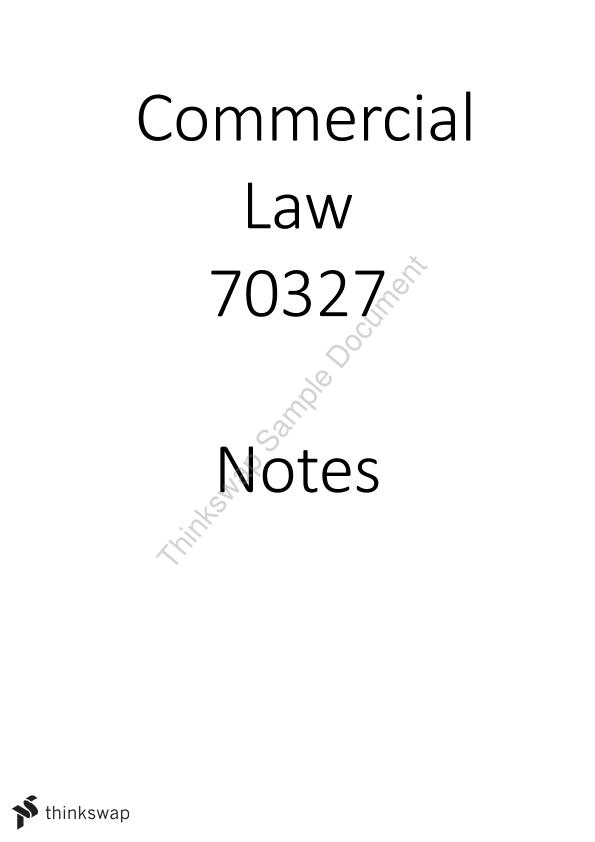 HD Extensive Full Commercial Law Notes