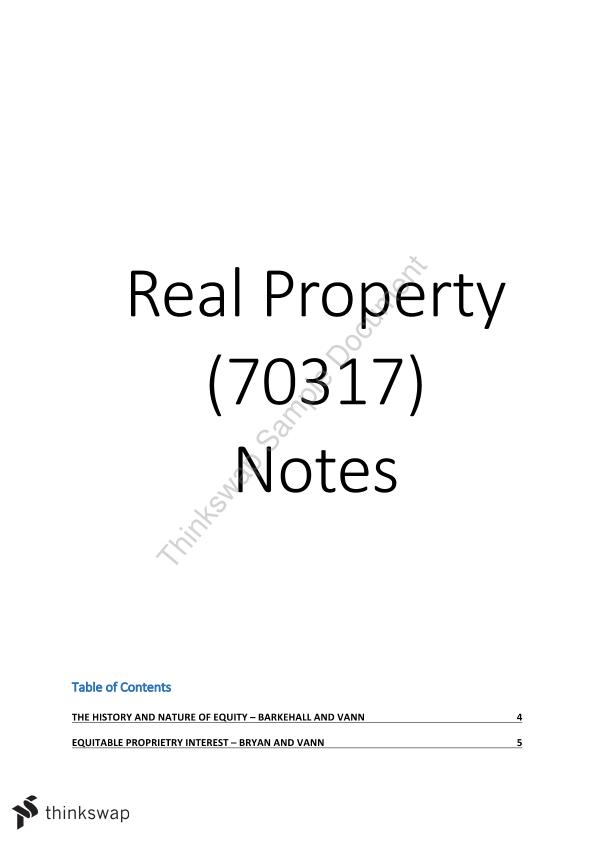 Extensive HD Complete Real Property Notes