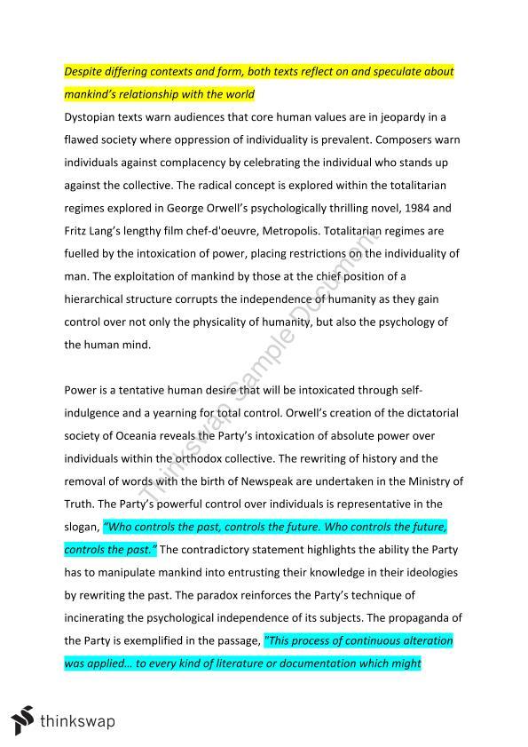 1984 essay introduction