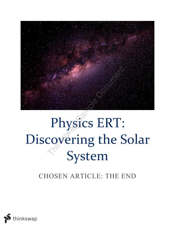 Physics ERT: Discovering the Solar System - Page 1