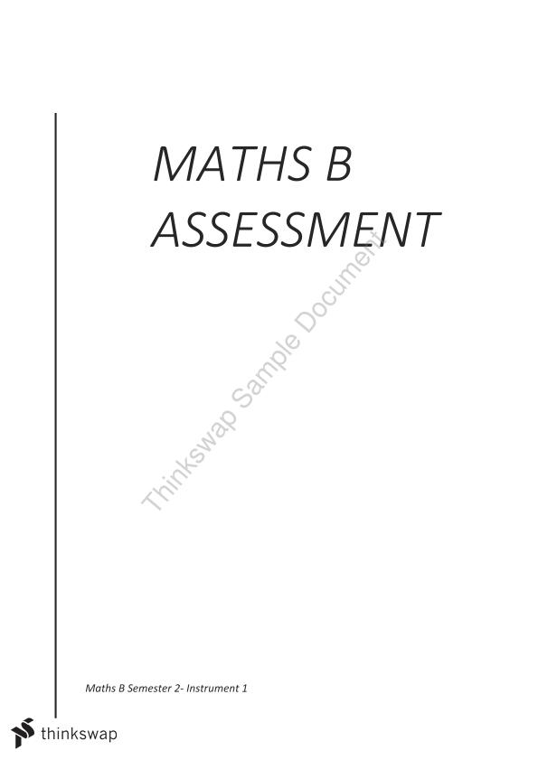 Math B Assessment Functions