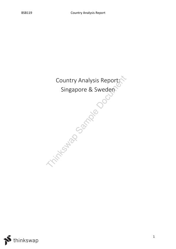 Country Analysis Report