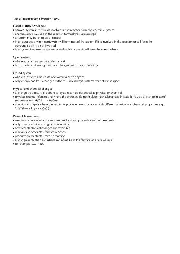 Chemistry ATAR Semester 1 Notes Yr 12 | Year 12 WACE - Biology