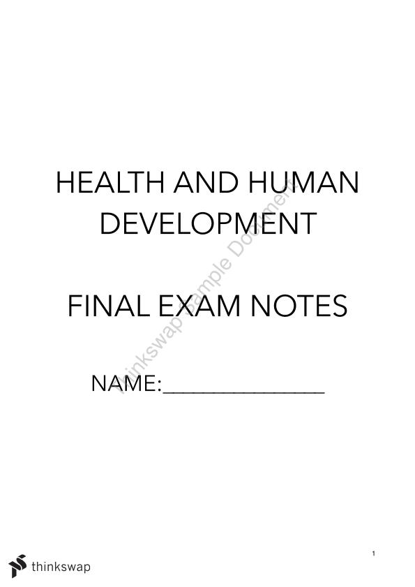 Health & Human Development Complete Study Notes