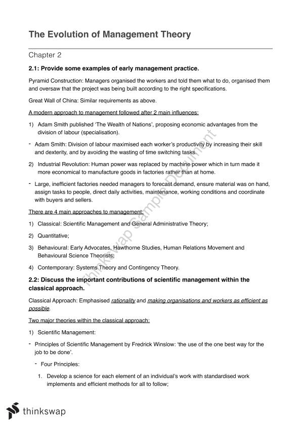 Managing Organisations and People – MGMT1001 Full Notes Week 1 to 12