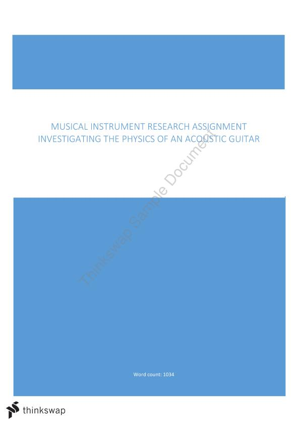 Musical Instrument Physics Research Assignment