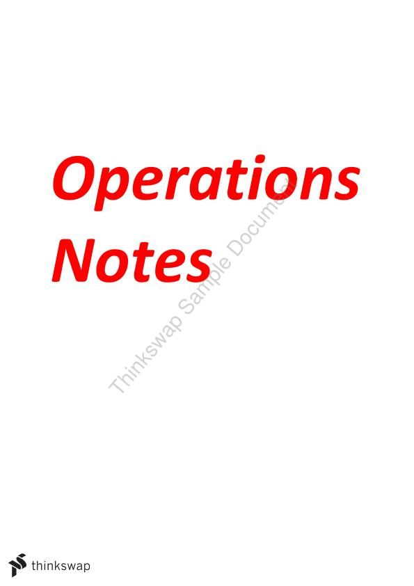 Operation Notes