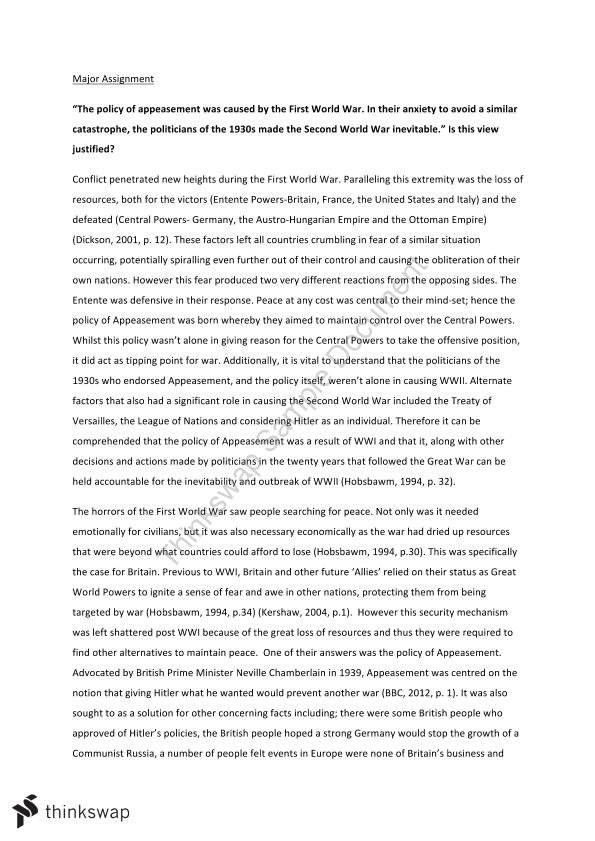 policy of appeasement essay