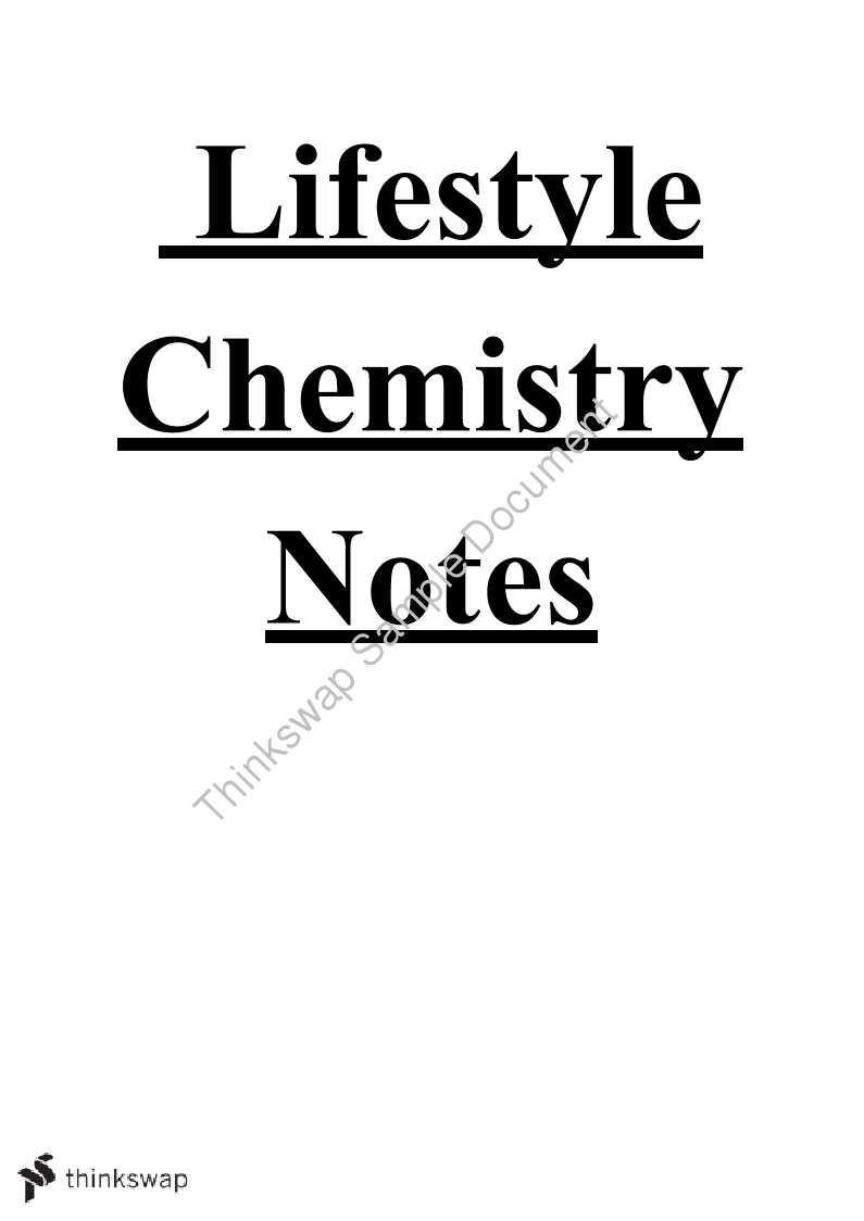 Extensive Lifestyle Chemistry Notes (15 Pages)