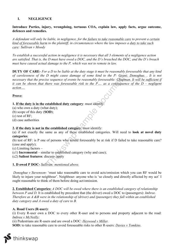 LLB152 Exam Notes - Page 1
