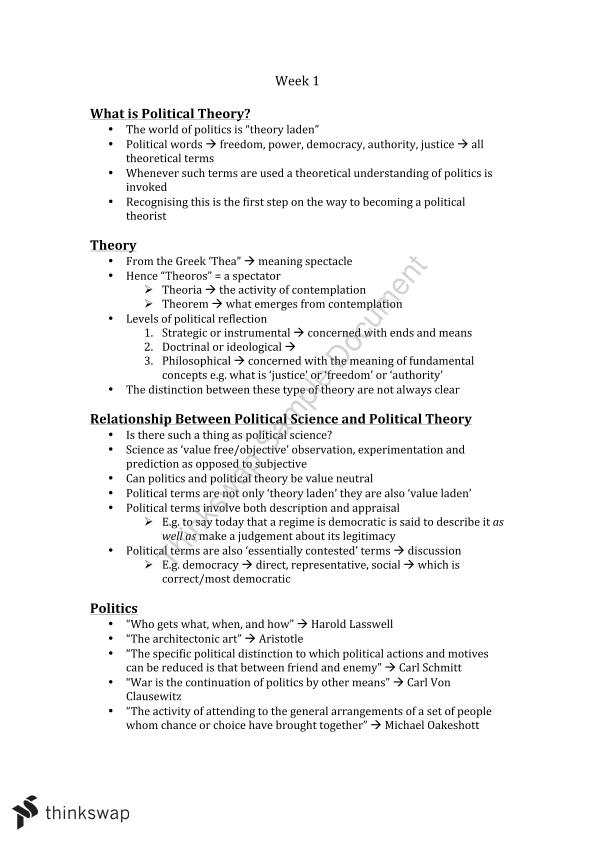 POL107 Full Course Notes