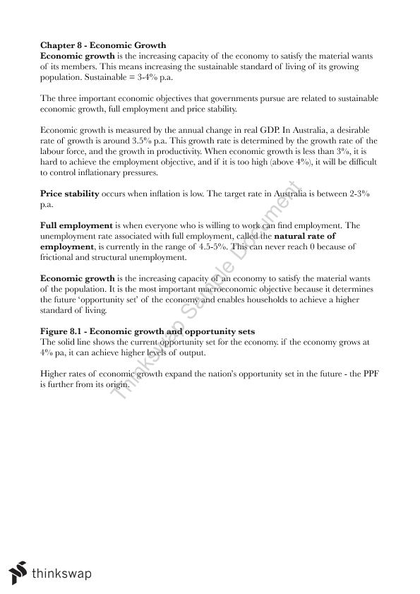 Economic Growth Notes - Page 1