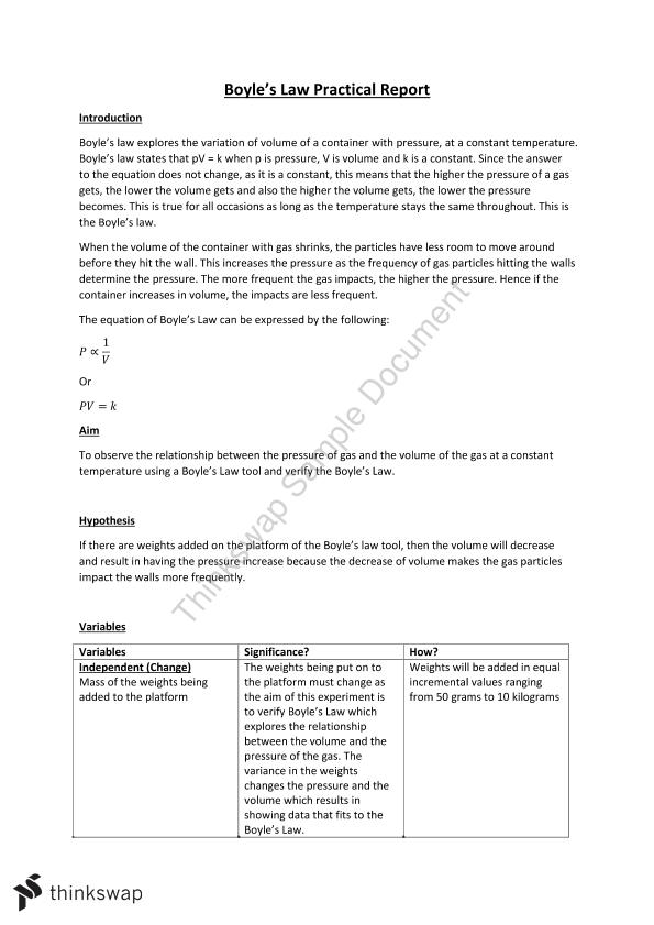Boyle's Law Prac Report