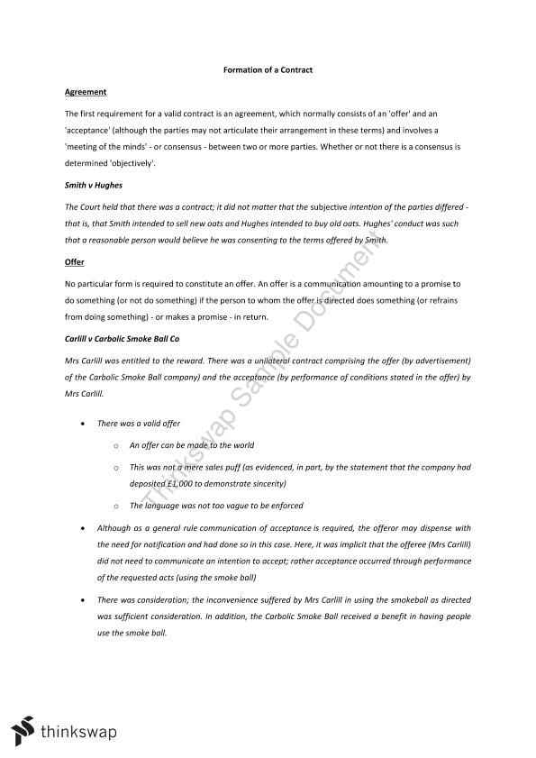 Contract Law Exam Notes - Page 1