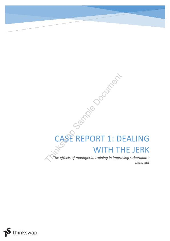 MGMT1002 Case Report 1