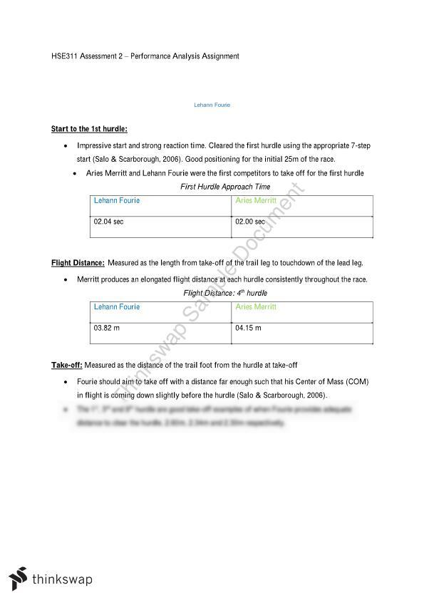 AT2 Performance Analysis Assignment  - Page 1
