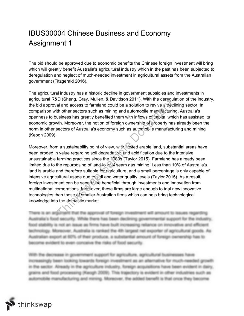 IBUS30004 Assignment 1 Essay