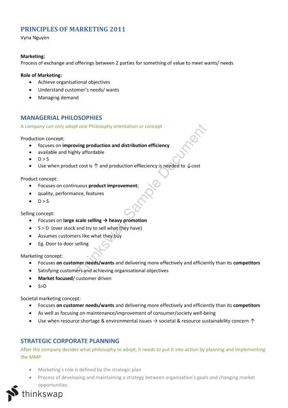 MKTG10001 Complete Study Notes  - Page 1