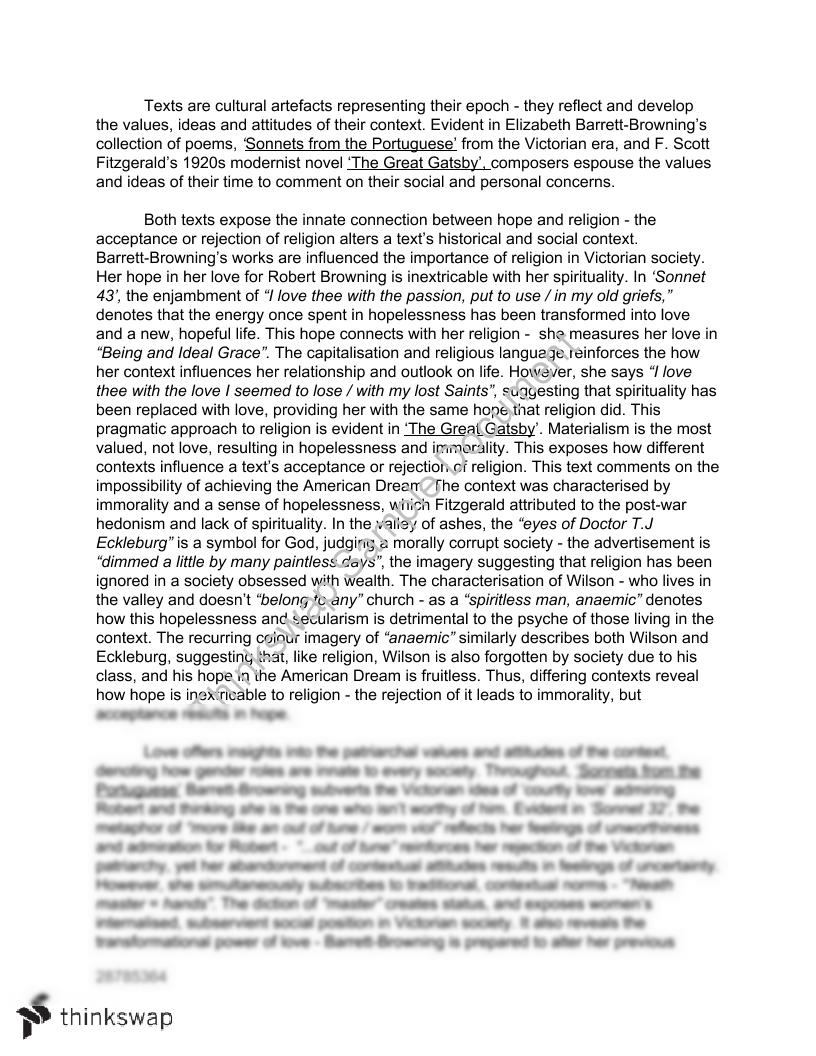 gatsby browning essays 'the great gatsby' was written by f scott fitzgerald in, and set, in america during the 1920's like all literature, this novel reflects the time period in which it was written that is, the american dream and its decline, social classes and the difference between them, along with world war i .