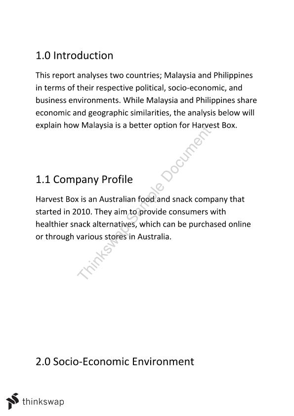 Country Analysis - Assignment 2