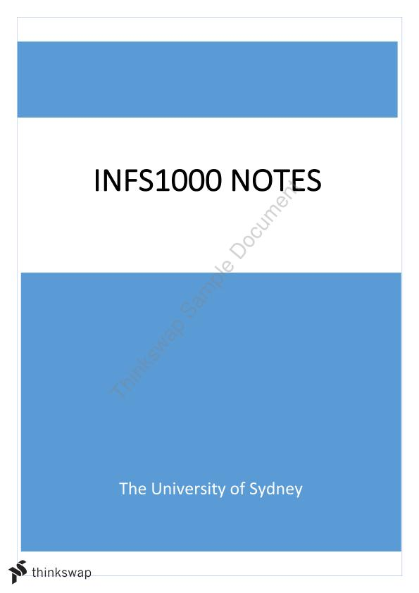 INFS1000 Detailed Summary Notes