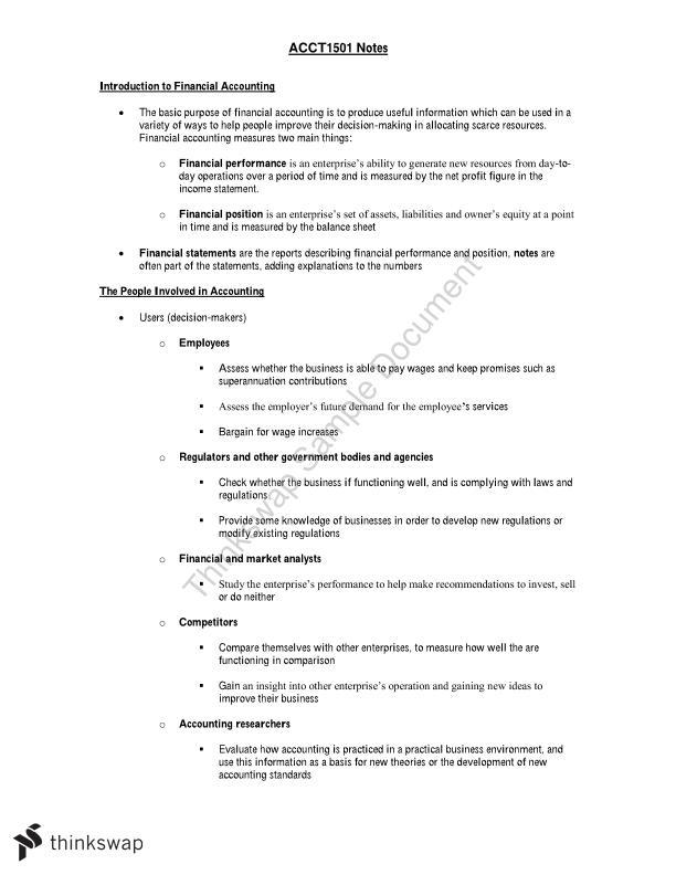 acct1501 exam