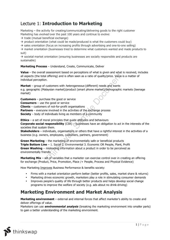 24108 Marketing Notes - Page 1