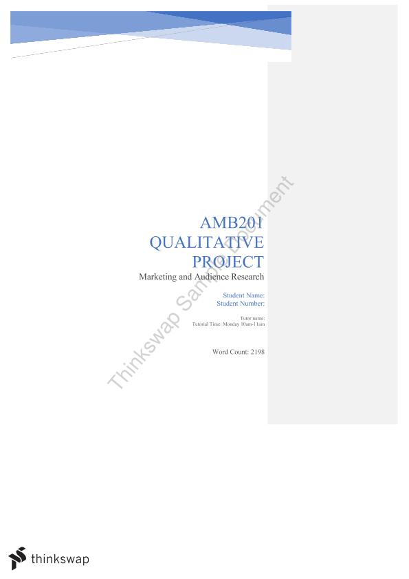AMB201 Qualitative Assignment