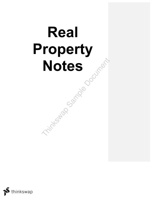 Comprehensive Real Property Notes